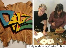 Mother-Son Duo Transform Graffiti Into Cree Beadwork