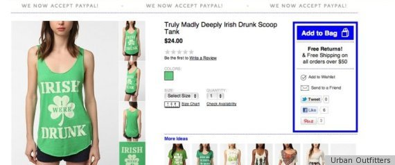 Urban Outfitters Negative St Patricks Day Clothing