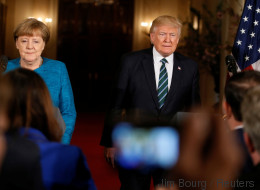 Donald Trump war beim Treffen mit Merkel doppelt respektlos