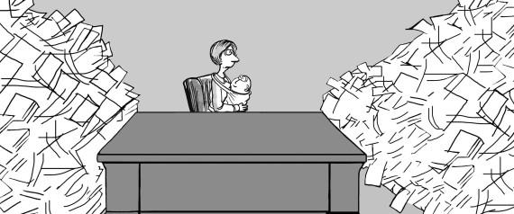BUSINESSWOMAN BABY
