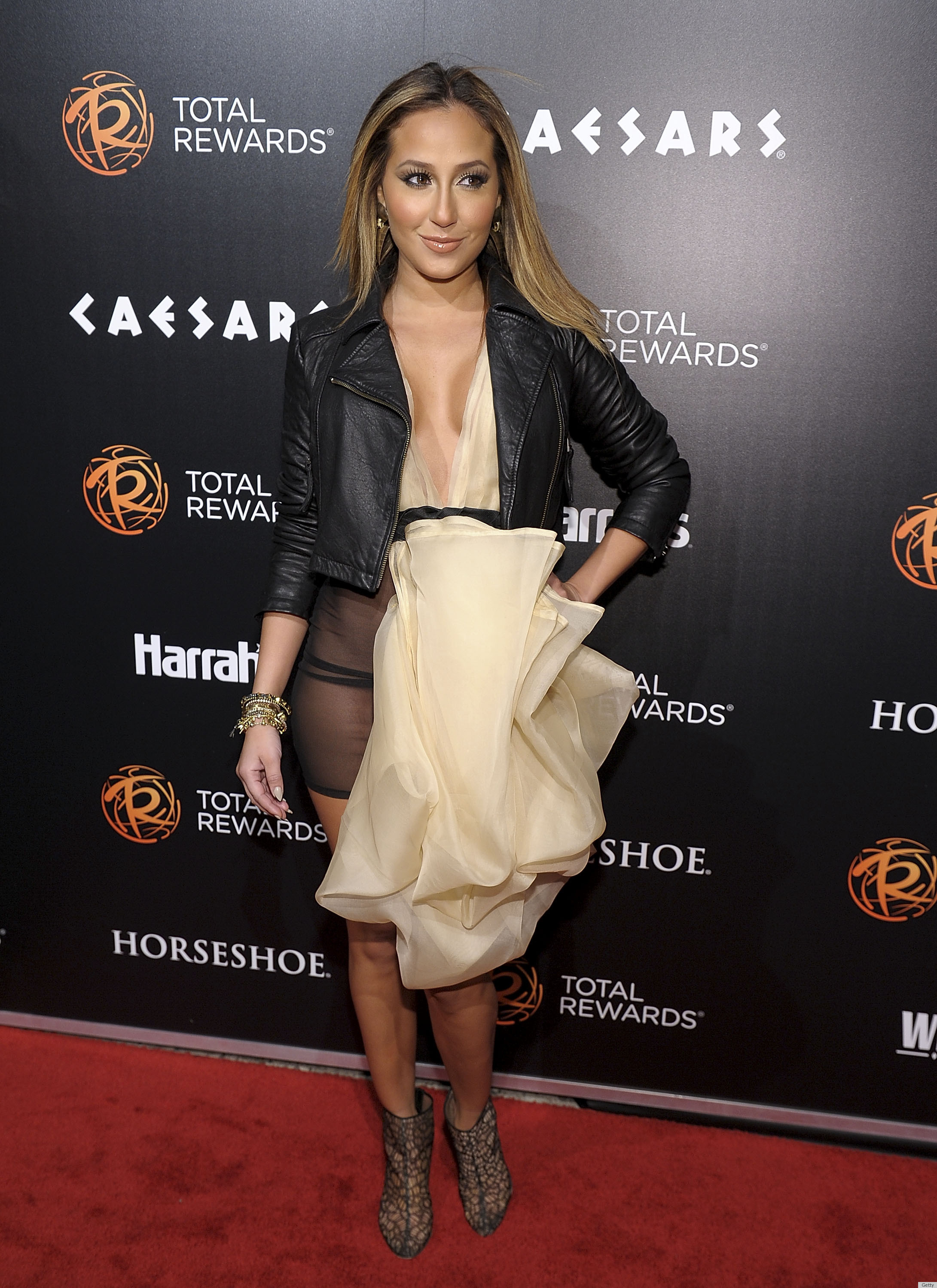 Adrienne Bailon Wardrobe Malfunction Dress