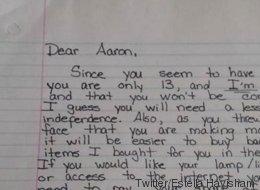 Eine Mutter schreibt ihrem Sohn einen wütenden Brief - jetzt feiern Internet-Nutzer sie dafür