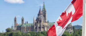 Parliament Ottawa Flag