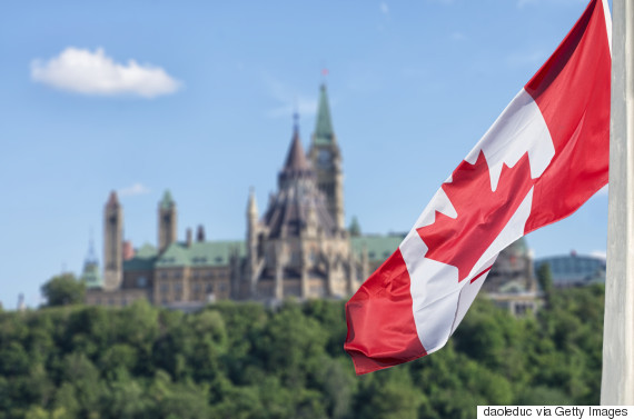 parliament ottawa flag
