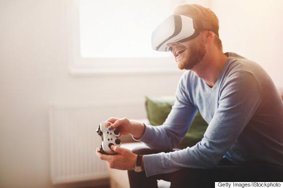 man virtual game