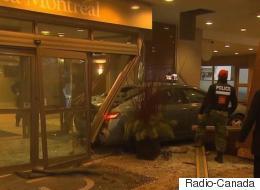 Un taxi fonce dans le lobby d'un hôtel du centre-ville de Montréal