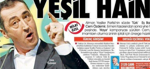 Türkische Tageszeitung startet widerlichen Angriff auf Grünen-Politiker Özdemir
