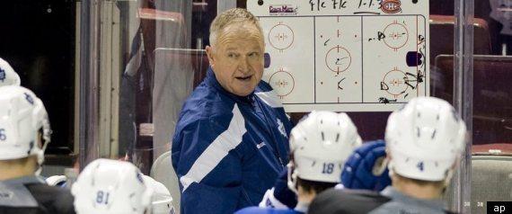 RANDY CARLYLE LEAFS BURKE NHL COACH