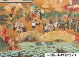 세월호와 현대사의 비극을 그린 불화가 완성됐다(사진)