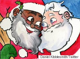 Santa Is Gay, In An Interracial Relationship In New Picture Book