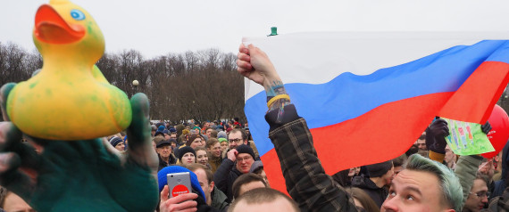RUSSIA PROTEST DUCK