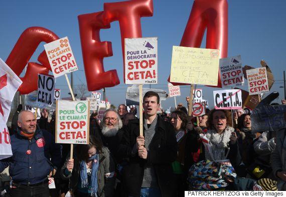free trade protest canada