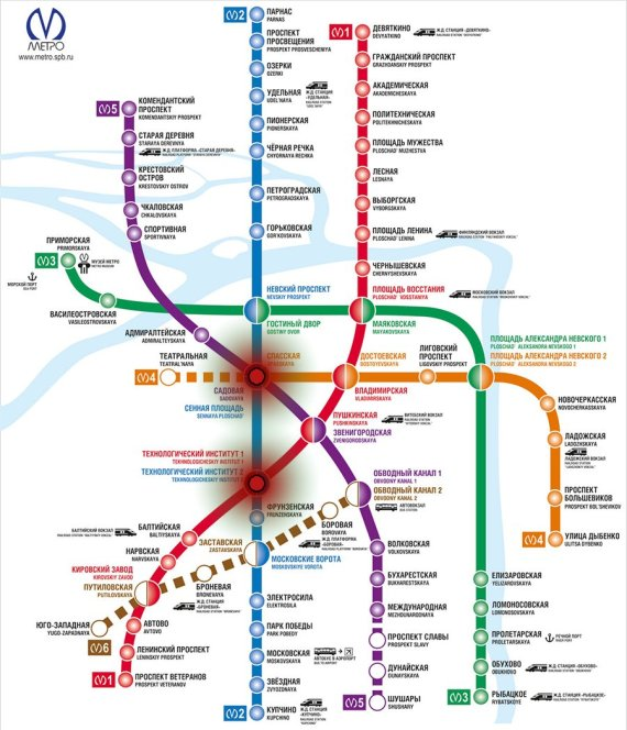 carte metro saint petersbourg