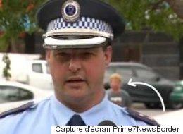 Ce policier n'a pas du tout apprécié d'être interrompu alors qu'il répondait aux journalistes