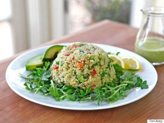 quinoa avocado tabouleh
