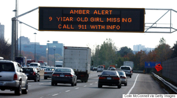 amber alert sign