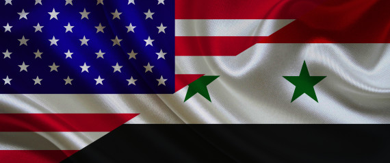 SYRIA USA FLAGS