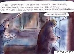 Satirischer Rückblick: Merkel profitiert am meisten vom Schulz-Effekt