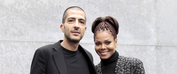 WITH HER HUSBAND JANET JACKSONA