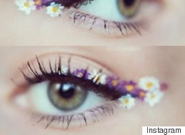 La dernière tendance maquillage? Le eyeliner « fleuri »