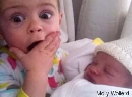32 Fotos von Kindern, die zum ersten Mal ihre Geschwister sehen
