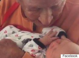 À 105 ans, il fait la connaissance de son arrière-petit-fils de 5 jours
