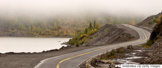 lake near highway