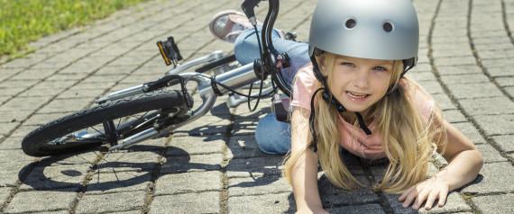 TEENAGER FALLING BICYCLE