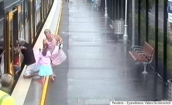 boy falls train platform gap