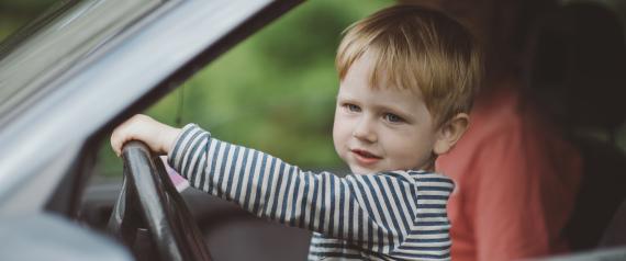 KID DRIVE A CAR