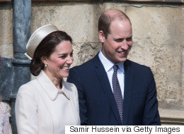 William, Kate And Queen Elizabeth II Celebrate Easter (Sans Kids)