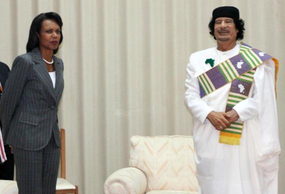 gaddafi condoleezza rice