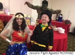 6-Year-Old In Palliative Care Gets His Wish To Marry Wonder Woman