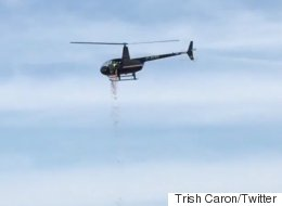 Helicopter Drops 45,000 Chocolate Eggs Over Ottawa For Easter
