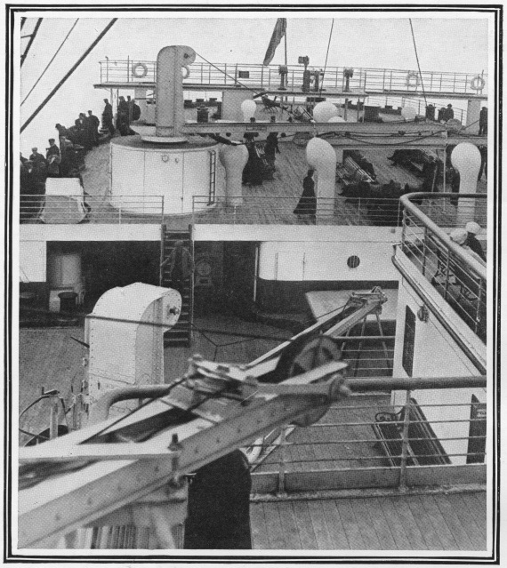 titanic the stern and sun deck of