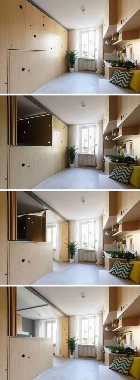 raumwunder dieses 30 quadratmeter apartment wirkt wie eine luxuswohnung. Black Bedroom Furniture Sets. Home Design Ideas