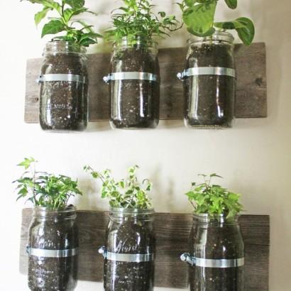 DIY Ideas Mason Jar Wall Planter HuffPost - Cool diy wall planter