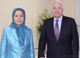 USA-Iran: Senator McCain trifft Maryam Rajavi