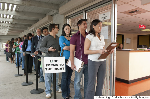 unemployment line