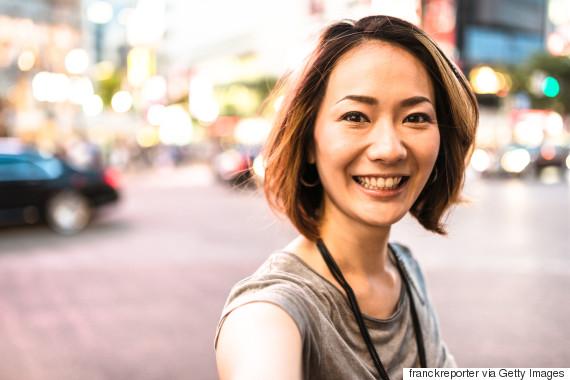 selfie asian woman