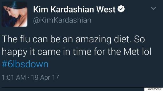 kim kardashian flu tweet