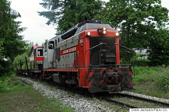woss bc logging train