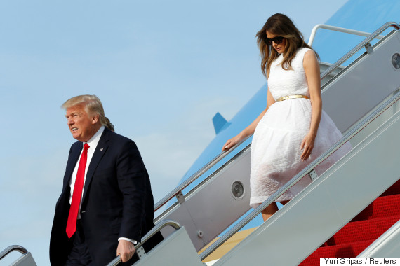 president donald trump and first lady melania