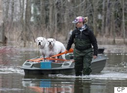 Hundreds Of Quebec Homes Flooded By Rising River Water