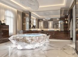 أحواض استحمام استثنائية في دبي.. قيمتها مليون دولار ومنحوتة من أغلى أحجار غابات الأمازون (صور)