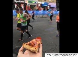 한 남성이 마라톤 선수들에게 준 선물(영상)