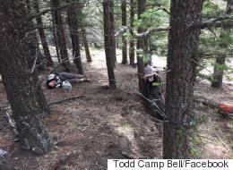 Alberta Bikers Almost Hit Hidden Barbed Wire Strung Between Trees