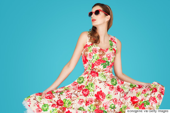 woman floral dress spring