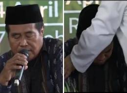 فاجأه الموت وهو يتلو القرآن على الهواء فأبى أن يتوقف!.. شاهد وفاة أشهر مقرئ بإندونيسيا