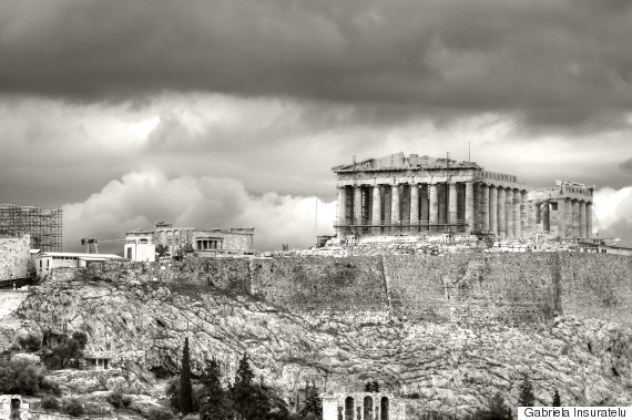 greece black and white